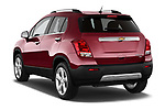 Car pictures of rear three quarter view of a 2015 Chevrolet Trax LTZ 5 Door SUV Angular Rear
