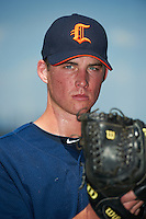 Connecticut Tigers pitcher Kevin Ziomek #11 poses for a photo before a game against the Staten Island Yankees on July 7, 2013 at Richmond County Bank Ballpark in Staten Island, New York.  Staten Island defeated Connecticut 6-2.  (Mike Janes/Four Seam Images)