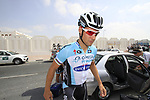 Tom Boonen (BEL) Omega Pharma-Quick Step arrives for the start of Stage 1 of the Tour of Qatar 2012 running 142.5km from Barzan Towers to Doha Golf Club, Doha, Qatar. 5th February 2012.<br /> (Photo by Eoin Clarke/NEWSFILE).
