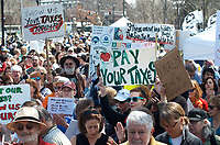 Tax day protest of Trump at Cambridge Common Cambridge MA 4.15.17