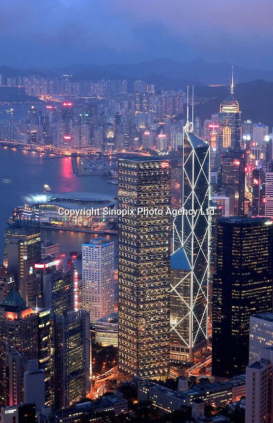 Hong kong as seen from Victoria Peak...