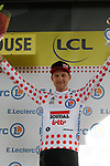 Tim Wellens (BEL) Lotto-Soudal retains the Yellow Jersey at the end of Stage 11 of the 2019 Tour de France running 167km from Albi to Toulouse, France. 17th July 2019.<br /> Picture: Colin Flockton   Cyclefile<br /> All photos usage must carry mandatory copyright credit (© Cyclefile   Colin Flockton)