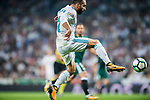 Daniel Carvajal Ramos of Real Madrid in action during the La Liga 2017-18 match between Real Madrid and Real Betis at Estadio Santiago Bernabeu on 20 September 2017 in Madrid, Spain. Photo by Diego Gonzalez / Power Sport Images
