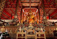 Buddhist altar Wat Suan Chiang Mai Thailand
