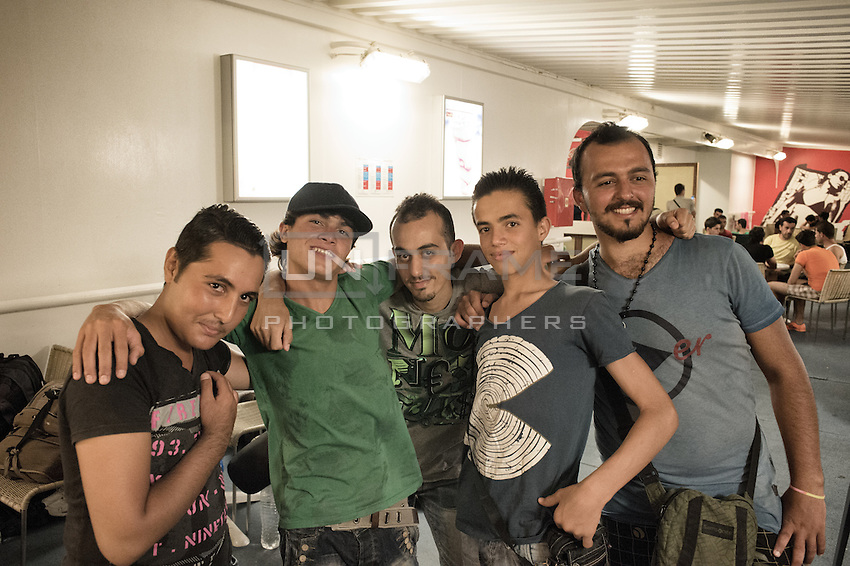 Syrian migrants during their ferry ride to Athens. Kos, Greece. Sept. 7, 2015