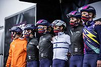 Team Canyon-SRAM Racing, pre race, team presentation<br /> <br /> 4th Liège-Bastogne-Liège-Femmes 2020 (1.WWT)<br /> 1 Day Race: Bastogne – Liège 135km<br /> <br /> ©kramon