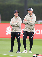 14th September 2021: The  AXA Training Centre , Kirkby, Knowsley, Merseyside, England: Liverpool FC training ahead of Champions League game versus AC Milan on 15th September: Liverpool manager Jurgen Klopp watches the training session
