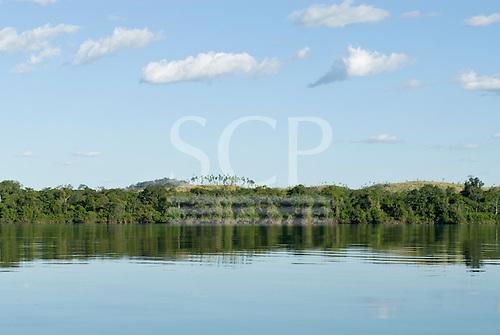 Pará State, Brazil. Deforestation close to the river.