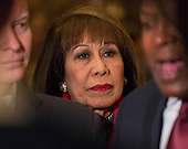 Mayor Elizabeth Kautz (Republican of Burnsville, Minnesota) seen in attendance at the press conference following her meeting with United States President-elect Donald Trump in the lobby of Trump Tower in New York, NY, USA December 15, 2016. <br /> Credit: Albin Lohr-Jones / Pool via CNP