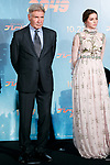 (L to R) American actor and film producer Harrison Ford and Ana de Armas attend a Japan Premiere for the film Blade Runner 2049 on October 24, 2017, Tokyo, Japan. Ford, along with director Denis Villeneuve and actress Sylvia Hoeks, greeted the fans at the event. The movie Japanese theaters on October 27. (Photo by Rodrigo Reyes Marin/AFLO)