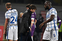 Christian Eriksen, Antonio Conte and Romelu Lukaku of FC Internazionale during the Italy Cup round of 16 football match between ACF Fiorentina and FC Internazionale at Artemio Franchi stadium in Firenze (Italy), January 13th, 2021. Photo Andrea Staccioli / Insidefoto