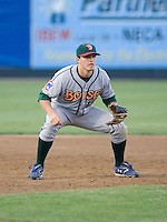 June 25, 2008: Josh Vitters of the Boise Hawks playing third base during a Northwest League game against the Everett AquaSox at Everett Memorial Stadium in Everett, Washington.