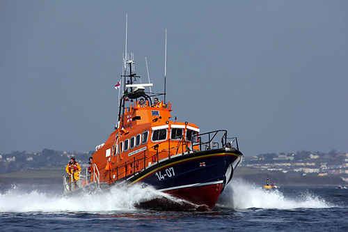 File image of Courtmacsherry RNLI's all-weather lifeboat off Roches Point