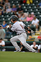 Jupiter Hammerheads outfielder Cameron Flynn (11) at bat during a game against the Bradenton Marauders on April 17, 2015 at McKechnie Field in Bradenton, Florida.  Bradenton defeated Jupiter 11-6.  (Mike Janes/Four Seam Images)