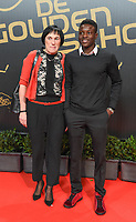 20180207 – BRUSSELS ,  BELGIUM : Hassane Bande (R) pictured during the  64nd men edition of the Golden Shoe award ceremony and 2nd Women's edition, Wednesday 7 February 2018, in Brussels Heyzel Palace 12. The Golden Shoe (Gouden Schoen / Soulier d'Or) is an award for the best soccer player of the Belgian Jupiler Pro League championship during the year 2017. The female edition is the second in Belgium.  PHOTO DIRK VUYLSTEKE | Sportpix.be