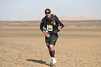 5th October 2021; Kourci Dial Zaid to Jebel El Mraier ; Chris Gaskin (gbr) Marathon des Sables, stage 3 of  a six-day, 251 km ultramarathon, which is approximately the distance of six regular marathons. The longest single stage is 91 km long. This multiday race is held every year in southern Morocco, in the Sahara Desert.