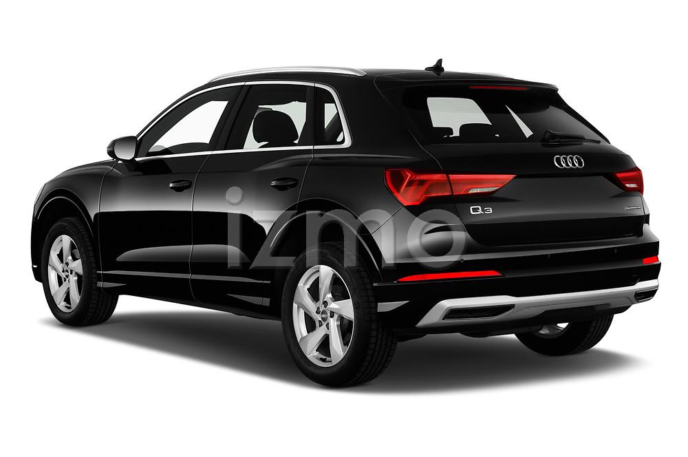 Car pictures of rear three quarter view of 2019 Audi Q3 Premium-Plus 5 Door SUV Angular Rear