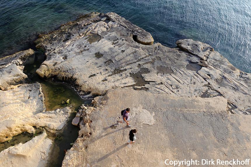 Beim Tigne Fort in Sliema, Malta, Europa