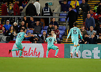 27th September 2021;  Selhurst Park, Crystal Palace, London, England; Premier League football, Crystal Palace versus Brighton & Hove Albion: Neal Maupay of Brighton & Hove Albion celebrates after scoring his sides 1st goal in the 95th minute to make it 1-1