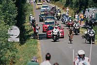 race leader Sylvain Chavanel (FRA/Direct Energie)<br /> <br /> Stage 2: Mouilleron-Saint-Germain > La Roche-sur-Yon (183km)<br /> <br /> Le Grand Départ 2018<br /> 105th Tour de France 2018<br /> ©kramon
