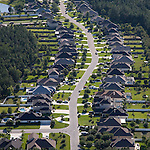 Julington Creek Residential Development St. Johns County Florida helicopter aerial