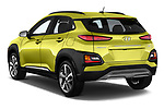 Car pictures of rear three quarter view of 2018 Hyundai Kona Limited 5 Door SUV Angular Rear