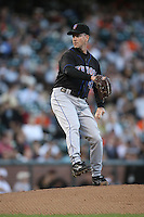 SAN FRANCISCO - May 8:  Tom Glavine of the New York Mets pitches during the game against the San Francisco Giants at AT&T Park in San Francisco, California on May 8, 2007. (Photo by Brad Mangin)