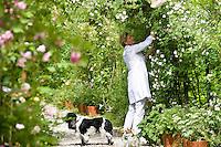 Portrait of Grazia Adamo Giovannetti in the grounds of her rose garden Ca' delle Rose