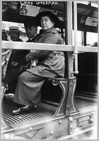 Anarchist Emma Goldman on a Street Car, circa 1917