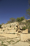 Israel, Jerusalem Mountains, ruins of the Crusader fortress Belmont on Mount Tzuba, the gate area