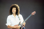 Brian May of Queen , Live Aid 1985 Wembley Stadium
