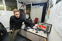 SCHAATSEN: HEERENVEEN: IJsstadion Thialf, 16-02-15, ijsmeester Beert Boomsma (Hoofd Technische Dienst), oplevering voor de verbouw, stopzetten koelmachines, ©foto Martin de Jong