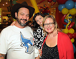 Justin and Julie Gasper with their daughter Skylar at the University of Texas M.D. Anderson Cancer Center and The Galleria's Back to School Fashion Show benefitting pediatric cancer patients at The Galleria Saturday August 25,2012.(Dave Rossman Photo)