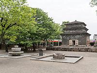 Pagode, buddhistischer Bunhwang Tempel , Gyeongju, Provinz Gyeongsangbuk-do, Südkorea, Asien, UNESCO-Weltkulturerbe<br /> pagoda in buddhist temple Bunhwang, Gyeongju,  province Gyeongsangbuk-do, South Korea, Asia, UNESCO world-heritage