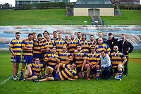 The BOP team poses for a group photo after the 2017 National Police Rugby Tournament rugby union match between Bay of Plenty and Canterbury at Rotorua International Stadium in Rotorua, New Zealand on Friday, 1 September 2017. Photo: Dave Lintott / lintottphoto.co.nz
