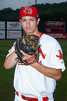 Johnson City Cardinals pitcher Josh Wirsu (22) poses for a photo prior to the game against the Elizabethton Twins at Cardinal Park on July 27, 2014 in Johnson City, Tennessee.  (Brian Westerholt/Four Seam Images)
