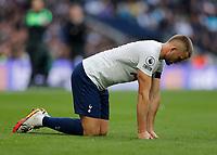3rd October 2021; Tottenham Hotspur Stadium. Tottenham, London, England; Premier League football, Tottenham versus Aston Villa: Eric Dier of Tottenham Hotspur who was injured in a challenge