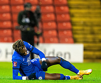 11th February 2021; Oakwell Stadium, Barnsley, Yorkshire, England; English FA Cup 5th round Football, Barnsley FC versus Chelsea; Tammy Abraham of Chelsea dejected after failing with his penalty claim
