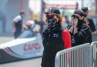 Apr 14, 2019; Baytown, TX, USA; Kay Torrence, mother of NHRA top fuel driver Steve Torrence during the Springnationals at Houston Raceway Park. Mandatory Credit: Mark J. Rebilas-USA TODAY Sports