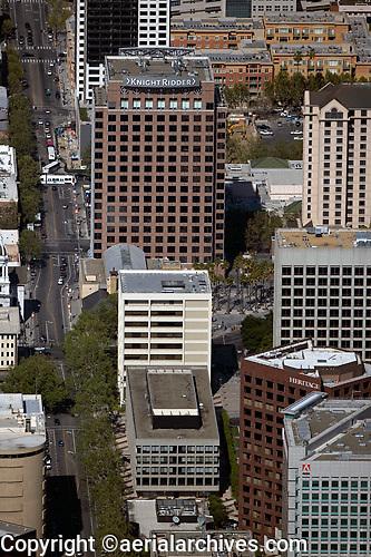aerial photograph Knight Ridder San Jose, Santa Clara county, California