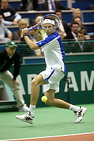 20-2-06, Netherlands, tennis, Rotterdam, ABNAMROWTT, Rusedski in action against Vic