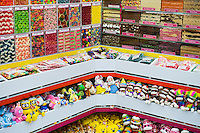Colorful candy store selection.