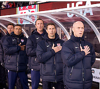 Bob Bradley, US Soccer coaches. The USMNT tied Argentina, 1-1, at the New Meadowlands Stadium in East Rutherford, NJ.