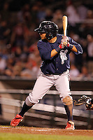 Lehigh Valley IronPigs shortstop Freddy Galvis #6 during a game against the Rochester Red Wings at Frontier Field on August 18, 2011 in Rochester, New York.  Lehigh Valley defeated Rochester 11-1.  (Mike Janes/Four Seam Images)