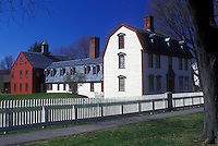 AJ1401, Massachusetts, Deerfield, The Berkshires, Dwight House in Historic Deerfield, Massachusetts in the spring.