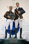 The Winner Danier Deusser, Joao Moreina The HKJC Race of the Rider during the Longines Masters of Hong Kong on 19 February 2016 at the Asia World Expo in Hong Kong, China. Photo by Juan Manuel Serrano / Power Sport Images