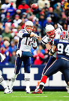 20 December 2009: New England Patriots' quarterback Tom Brady in second quarter action against the Buffalo Bills at Ralph Wilson Stadium in Orchard Park, New York. The Patriots defeated the Bills 17-10. Mandatory Credit: Ed Wolfstein Photo