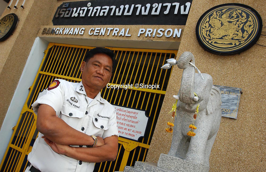 Thailand's only executioner Chawalate Jarubun of Bangkwang Central prison.