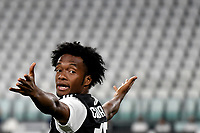 Juan Cuadrado of Juventus reacts during the Serie A football match between Juventus FC and US Lecce at Juventus stadium in Turin  ( Italy ), June 26th, 2020. Play resumes behind closed doors following the outbreak of the coronavirus disease. Photo Andrea Staccioli / Insidefoto