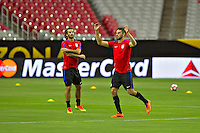 Glendale, AZ - Friday June 24, 2016: Kyle Beckerman, Steve Birnbaum of the United States during a training prior to the third place match of the Copa America Centenario at the University of Phoenix Stadium.<br /> Action photo during of the United States team training before the game against the selection of Colombia for third place in the America Cup Centenary 2016 at University of Phoenix Stadium<br /> <br /> Foto de accion durante el Entrenamiento de la Seleccion de Estados Unidos previo al partido contra la Seleccion de Colombia por el tercer lugar de la Copa America Centenario 2016, en el Estadio de la Universidad de Phoenix, en la foto: (i-d) Kyle Beckerman y Steve Birnbaum  de USA<br /> <br /> <br /> 24/06/2016/MEXSPORT/Victor Posadas.